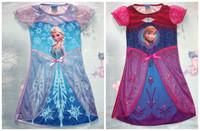 Factory direct selling!!! New 2014 summer T-Shirt Frozen dress girl dress frozen free ship