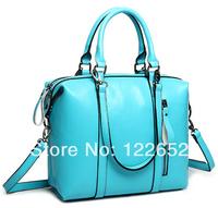 2014 popular female medium handbag genuine leather bag free shipping B-129