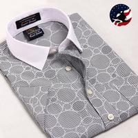 New Arrival Free Shipping U-Shark Mens Cotton Smart-Casual Dress Shirts Summer Short-Sleeves Men Formal Shirt