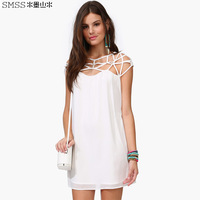 Dress Promotion Europe And The United States In Summer of 2014 New Cable Knit Wrapped Chest Lou Empty Sexy Dress Design