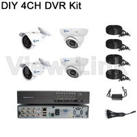 full d1 dvr 4ch ccd cctv home security camera system