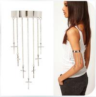 Fashion personality all-match cross tassel Bracelet punk rivet Bangel Punk armlet jewelry Free shipping