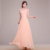 2014 bridal  dress  long design red formal dress lace bridesmaid dress elegent  formal dress Free shipping