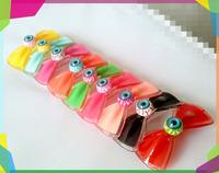 Mini order $10 Acrylic Plastic Bow Evil Eye Hair Clip Hairpin Barrettes Hair Accessories Women Children