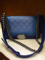 Lambskin LEBOY 25.5cm gradual color women leather handbags/women handbag/women messenger bags