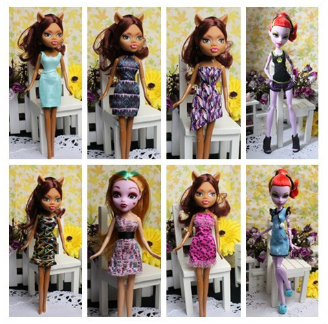 Free Shipping ! Original monster high dolls fashion clothing accessories e430(China (Mainland))