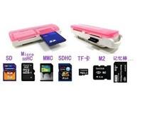 USB All IN 1 one Usb card micro sd card reader  all in 1 Micro card reader SD SDHC MS M2 TF Micro SD Memory Card Reader