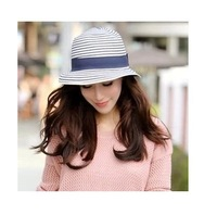 2014Fashion new Free shipping panama chapeu summer sun hat foldable caps cowboy hat for women straw chapeu beach hat wholesale