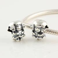 Fj258 925 pure silver jewelry beads loose beads girl bead silver beads