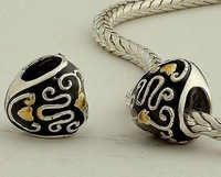 Dy029 925 pure silver jewelry diy beads masout love oil bead silver beads