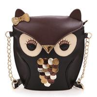 PU Artificial leather fashion women handbag women leather handbags owl fox cartoon bag women shoulder bags women messenger bags