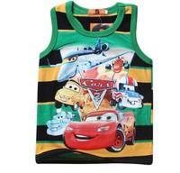 2014 New Arrival Summer Fashion Tank Boy Clothing,100% Cotton Cartoon Print,Kid Sleeveless Vest,Child Tops Clothes 5492