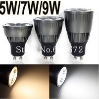 (5pieces/lot) 5w/7w/9w LED COB SpotLight Bulb GU10 Cool White/Warm White dimmable AC85-265V lamp Lighting Epistar