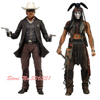 GUARANTEED 100% NECA The Lone Ranger Tonto + John PVC Action Figure Collectible Figure Model Toy FREE SHIPPING