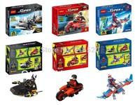 Original Box Super Man Robin Spider Man With Car 3pcs/lot Building Block Sets Model Bricks Classic Toys For Children