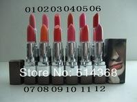 Wholesale - -Free Shipping 2014 Beautiful New makeup CC lipstick 12 colors (24pcs/lot)