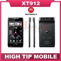 Original Unlocked  XT912 Motorola mobile phone Dual Core 4.3 inch ROM 16GB Camera 8.0MP Bluetooth DROID RAZR Refurbished phone