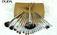 Free shipping 21 pcs Professional High-grade PUPA  grey cosmetics makeup brush set wholesale