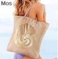 victoriaS GOLD secret pink  for brand women gold zipper light women's one shoulder handbag BAG TOTES