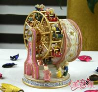 ferris wheel, sky wheel, Rotating bears music box, birthday gift, girlfriend gifts