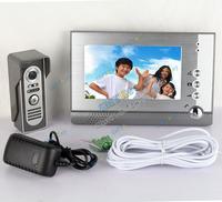 7 Inch video doorphone Color TFT LCD Video Door Phone Intercom System with Waterproof Camera