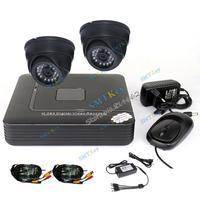 Mini DVR DIY cctv system 4CH security system 4CH D1 DVR + 2pcs 700TVL IR-Cut night vision indoor cctv camera