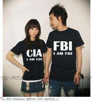 New Lovers men's clothing women's fbi cia t-shirt plus size summer vesseled 100% cotton short-sleeve T-shirt personality S-XXXL