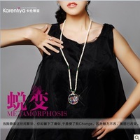 Accessories fashion gem crystal wishing bottle pendant long design necklace accessories female