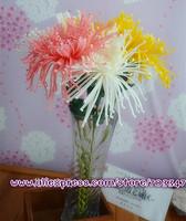 2014 New Arrival !!  Free Shipping!!! (36pcs/lot) Artificial Lifelike EVA Foam Mum(Chrysanthemum)Single Stem W/Leaves