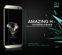 MOQ 1PC For HTC New One(M8) NILLKIN Amazing H Nanometer Anti-Explosion Tempered Glass Screen 9H Protector Film
