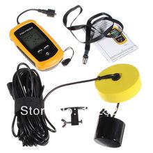 Portable Fish Finder Depth Sonar Sounder Alarm Transducer Fishfinder 100m(China (Mainland))