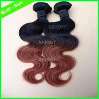 000075 - 2014 Human Hair New Multi - Choice Mid - Brown Brazilian Virgin Hair Extention Body Wave Human Hair Free Shipping