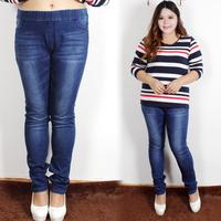 Long design denim trousers excellent 40 elastic