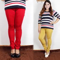 Clothing autumn solid color elastic skinny pants trousers plus size mm 36 chromophous