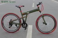 26 carbon steel mountain bike 21 24 double disc shock absorption variable speed folding mountain bike