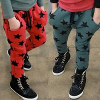 2014 spring and autumn clothing boys girls clothing baby child harem pants long trousers kz-1356