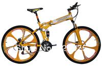 26 folding mountain bike carbon steel x9 double shock absorption 21 24 double disc variable speed mountain bike
