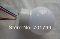 60mm diamter full color WS2811 globe type pixel light;DC12V input;1.44W(6pcs 5050 SMD RGB inside);white base;40pcs a string