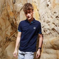 2014 new arrival summer fashion men's British style short sleeve shirts cotton polo shirt cheap casual shirts for men