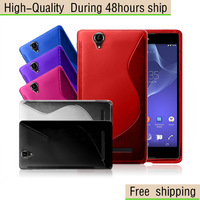 High Quality S Line Soft TPU Case Cover For Sony Xperia T2 Ultra XM50h Free Shipping UPS DHL EMS HKPAM CPAM