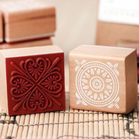Wholesale,(1 lot=6 pcs different styles) DIY Scrapbooking Vintage Stamp Wood Stamps Lace Stamp Sealing Stamp