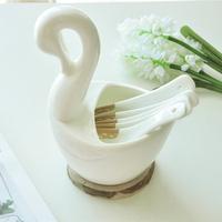 White chopsticks tube spoon storage rack product