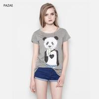 2014 summer print o-neck short-sleeve T-shirt all-match