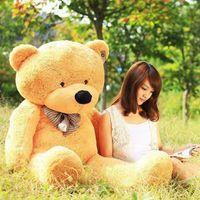 BROWN BIG LOVELY PLUSH TEDDY BEAR HUGE 100CM SOFT TOY BEAR