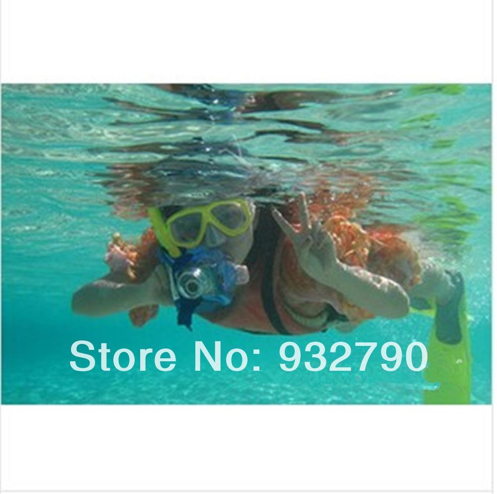 Adult Sport Swimming Pool Scuba Anti-Fog Swim Protective PVC Goggles Mask Snorkeling Diving Glasses + Dry Snorkel(China (Mainland))