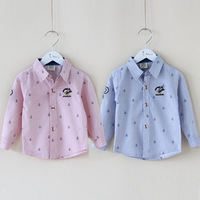 Free shipping new 2014 spring anchor boys clothing baby & kids children blouse boys long-sleeve shirt children t shirts clothes