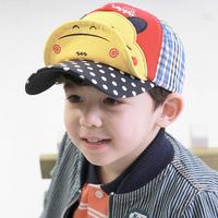 Sun hat male child sun-shading baseball cap female child cap baby spring and autumn child hat hippopotami