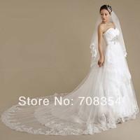 High-grade Romantic CZ Diamond  Pleated Lace Super Luxury Trailing Wedding Dress 63