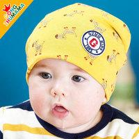 Newborn baby spring and autumn baby 100% cotton male child pocket female child hat child hat