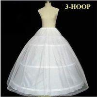 Free Shipping ! Hot Sale 3 Hoops Bone A Line Petticoat Wedding Skirt Slip Crinoline